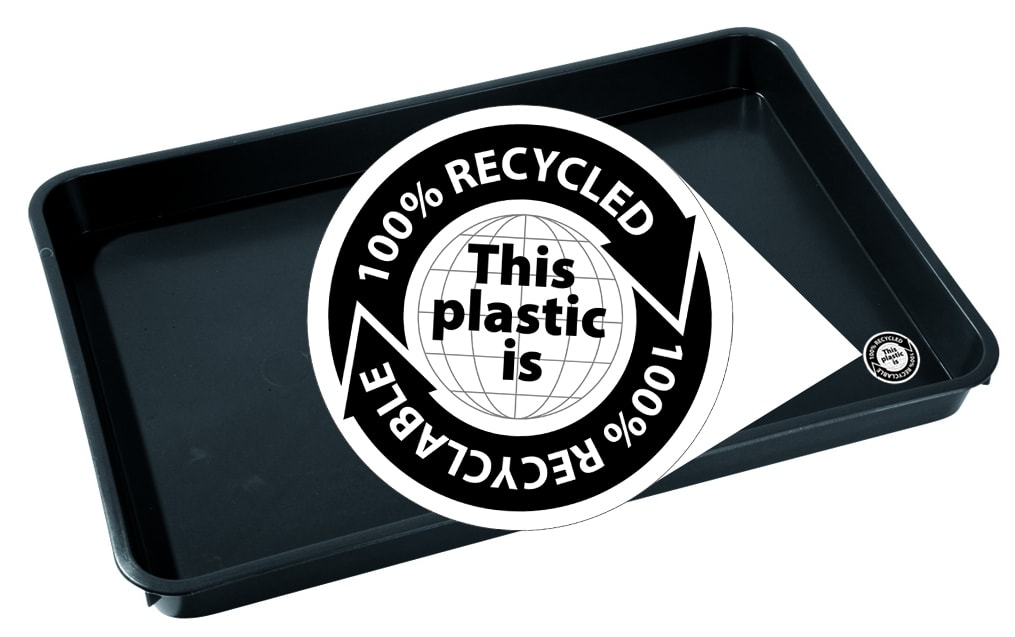 Recycled Plastic Tray With Logo